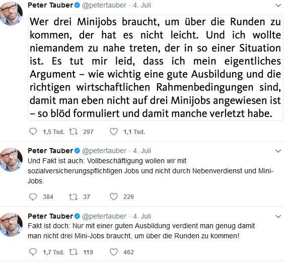 Peter Tauber_Twitter_Entschuldigung