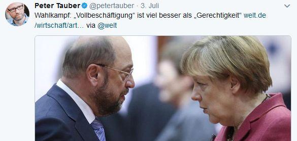 Peter Tauber_Twitter_Vollbeschäftigung